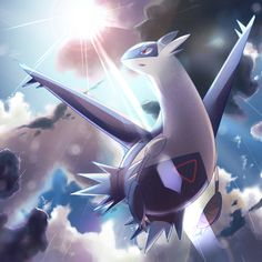 """Latios the Eon Pokemon. """"Latios will only open its heart to a Trainer with a compassionate spirit. This Pokémon can fly faster than a jet plane by folding its forelegs to minimize air resistance."""" - Sapphire Pokedex Entry. //"""