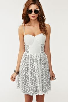 Button Up Bustier Dress