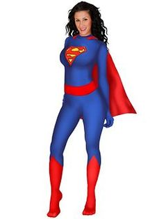 Superman Supergirl Zentai Bodysuit Costumes   Cheap Superhero Halloween Costume for Women