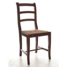 Silla rústica en madera, distintos colores disponibles, con asiento de madera, paja o distintos tapizados
