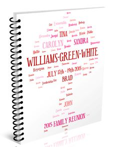 Family Tree Art Design For Reunion Bookletscreated In Minutes