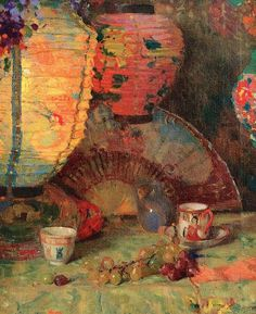 """""""Still Life, Lanterns"""" by Aldro Thompson Hibbard (1886-1972), New England Artist, mostly known for his Snowy Landscapes of Vermont ...."""