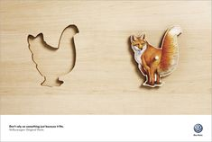 Volkswagen (1 of 2) Agency: AlmapBBDO, São Paulo, Brazil Only original Volkswagen parts will do, said this clever visual campaign.