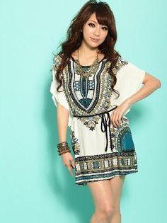 National-Wind-plus-size-Printed-bat-sleeve-Ice-silk-blouse-Women-s-Long-loose-T-shirt.jpg (390×522)