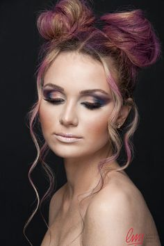 Colorful makeup by LMI student! #colorful #eyes #beauty #makeup #hairstyling