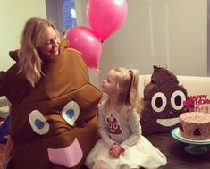 A poop party? That maybe sounds gross, but that's what three-year-old Audrey from Missouri wanted—a poop emoji birthday party.