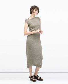 Zara Long Seamed Dress in Beige Vestidos Zara, Boho Womens Clothing, Fashion Week 2015, Maxi Robes, Jumpsuit Dress, Zara Dresses, Comfortable Fashion, Jumpsuits For Women, Maxi Dresses
