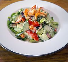 Fresh crayfish salad. The most popular recipe on my blog at the moment