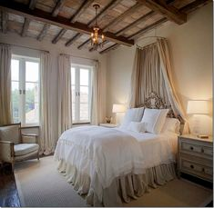 TUSCAN DREAM IN FLORA, MS | Bevolo Exterior Lighting | Architecture by Kevin Harris and Interior Design by Annelle Primo. #decor #bedroom #interiordesign