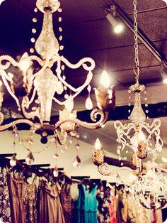 chandeliers in closet