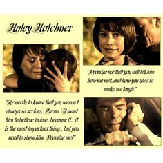Oooooooomfg, i never really warmed up to Haley's character (i prefer Beth by far) but holy crap, 100 friggin' killed me. I cry just thinking about the episode and I'm a complete wreck everytime i actually watch it. It's one of the only episodes i avoid, along with Zugzwang and Lucky.