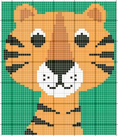 Animal tiger cross stitch.