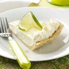 ❥ Macadamia Key Lime Pie with shortbread crust