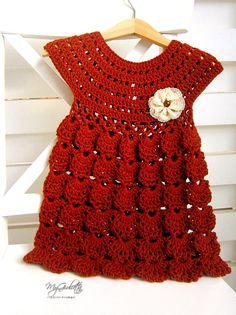 Bebé bautismo bebé vestido ganchillo vestidos vestidos