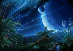 SciFi and Fantasy Art Night in the Jungle by Batya Sokolovsky