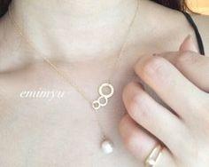 18Kcoating Circle Pearl Necklace