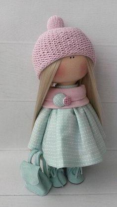 Ткани и шерсть для игрушек,кукол Тильд и др. Pretty Dolls, Cute Dolls, Doll Toys, Baby Dolls, Homemade Dolls, Pink Doll, Fabric Toys, New Dolls, Sewing Toys