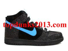 Online Black Varsity Royal White High Top Nike Dunk