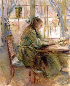bofransson:  Girl Writing Berthe Morisot - 1891