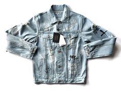 Graffiti Onyx Hearts Denim Jacket