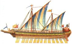 "Russian historical boat called ""lad'ya"" was a typical boat used by the army of Novgorod (length 30 meters with a width of five to six meters, and two or three masts, with the armament of battering rams and catapults."