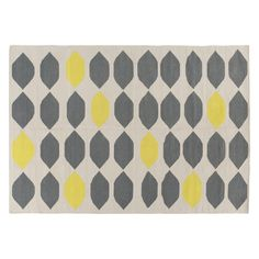 TRILLO Medium grey and yellow cotton rug 140 x 200cm | Buy now at Habitat UK