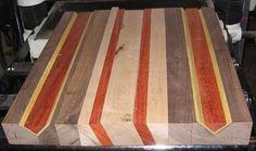 Cutting Board, Diamond and Zig Zag pattern, End Grain Up