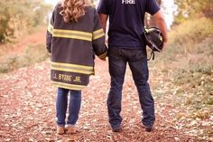Adorable Firefighter Engagement Session by KB Digital Designs