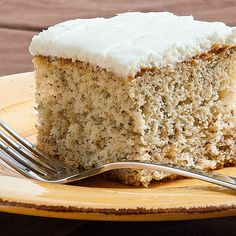 Simple Banana Cake with Sour Cream Frosting Recipe on Yummly