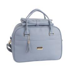 b9317674d9 Bolsa de maternidade azul niágara da linha Milão Slim da Just Baby.  Acompanha trocador.