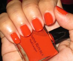 Banana Republic Nail Lacquer in Honeymoon, I got this last summer but this is pretty close to the color of the 2012 year, Tangerine Tango. Absolutely love this nail polish!
