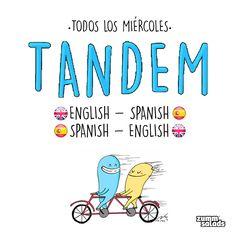 ¡Comienza la cuenta atrás para el #TANDEM english-español! Recuerda: mañana de 18:30 a 20:30 en tu bar #healthy y #bilingüe de siempre ☺http://on.fb.me/1RFJBwG