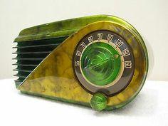 farnsworth bullet art deco and swirled catalin colours bakelite radio