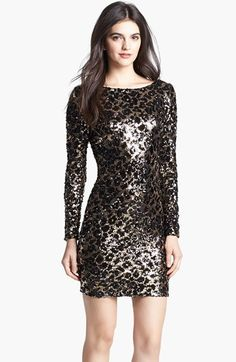 Dress the Population 'Lola' Animal Sequin Dress available at #Nordstrom