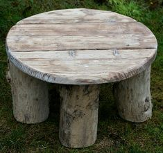 Driftwood Coffee Table, Drift Wood Side Table, Low Round end table £120.00