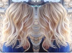 Light blonde balayage done by stylist Liana @hairbyliana light blonde hair warm blonde waves pretty