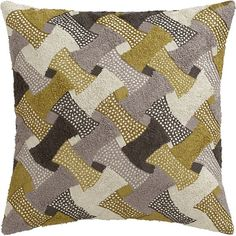 Esmeralda Pillow in Decorative Pillows | Crate and Barrel