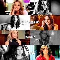 Even the strongest people break♥️where's Emily Pll Memes, Pll Quotes, Qoutes, Pll Frases, Pll Logic, Pretty Little Liars Meme, Netflix, Actors, Best Shows Ever