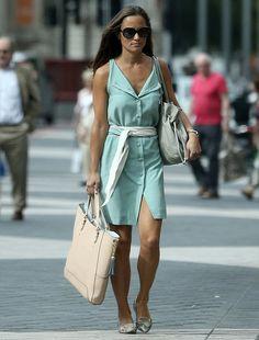 428ecb40ad8 Pippa Middleton in a Logue London  Julia  dress in South Kensington.