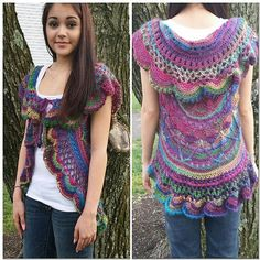 Ravelry: FREE download of Sophie's Universe Circular Vest pattern by Jarta Jasmine Designs