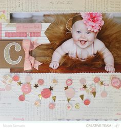 This adorable layout by Nicole Samuels used products from the Story Time collection by Studio Calico.
