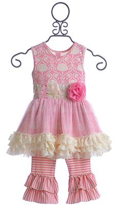 Giggle Moon Simply Beautiful Pink Tutu Dress with Capri $74.00