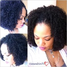 Wash n Go!! Afro Kinky Curly/Kinky Curly hair by KinkyCurlyYaki.com! Blends perfectly with my leave out!