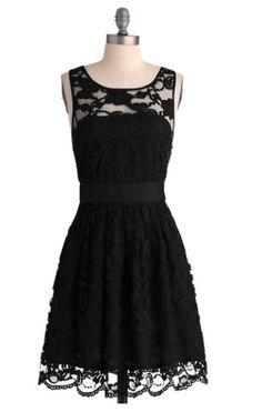 Modcloth - short black lace bridesmaid dress