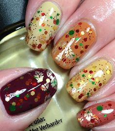 Fall Nails using Oopsie Daisies Apple Picking
