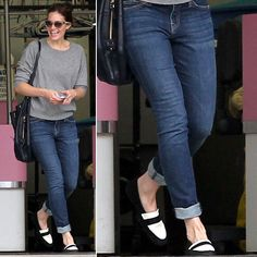 Mandy Moore in Loafers #theoriginalpennyloafer