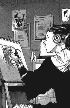 Manga Anime, Manga Art, Anime Art, Ken Kaneki Tokyo Ghoul, Tokyo Ghoul Manga, Hide Tokyo Ghoul, I Love Anime, Anime Guys, Kou Diabolik Lovers