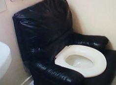 Recliner toilet
