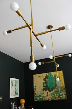 modfrugal DIY brass chandelier