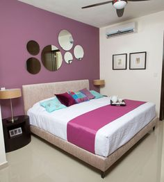 Departamento muestra. Pink Room, Room Interior, Showroom, Rooms, Interiors, Purple, Bed, Furniture, Home Decor